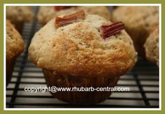 Cinnamon Rhubarb Muffins Recipe - make these with FRESH or FROZEN Rhubarb!