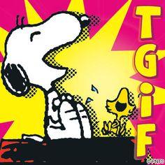 Yay Snoopy, it's Friday!