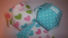Baby doll diaper/wipe COMBO SEThearts on by BellasInspirations, $5.50
