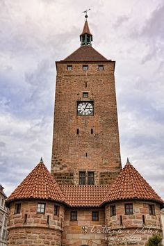 Clock Tower in Nuremberg, Germany