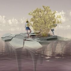 rhizolith island is a concept presented by APTUM architecture investigating the potential for concrete structures to revitalize colombian shorelines.