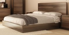 BEDS :: Furniture for every room in your home - and patio! Wood Bed Design, Bed Frame Design, Bedroom Bed Design, Bedroom Furniture Design, Bed Furniture, Bedroom Sets, Home Decor Bedroom, King Bedroom, Furniture Layout