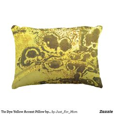 Tie Dye Yellow Accent Pillow by Janz