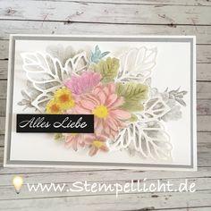 Blumen von Herzen, Glückwunschkarte mit SAB Set von Stampin´Up! Außerdem mein neues Bastelreich ;o)