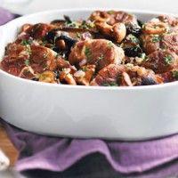 Osso buco de porc aux champignons: chaleureux et délicieux!