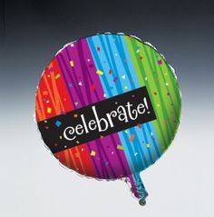 Milestone Celebrations Metallic Balloon Celebrate - 12 per case  Product # :45683  $16.36