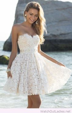 Amazing dress from lace, perfect for a wedding