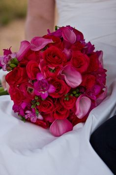 Bright Pink Bridal Bouquet by Blume Events www.idoaz.com Photography by www.ogracephotography.com