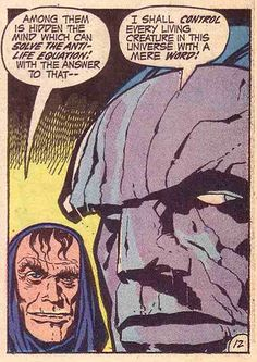 Darkseid and minion, New Gods, Art: Jack Kirby Comic Book Artists, Comic Book Heroes, Comic Artist, Comic Books Art, Jack Kirby Art, Comic Book Panels, Comic Book Collection, Silver Age Comics, New Gods