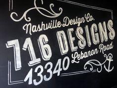 Chalk wall  716 Designs | Web Design + Marketing