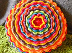 Psychedelic Flower PowerCushion