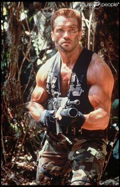 Main Dnd Character Concept: Use for any drawing reference when it comes to army camo side arm/ muscle or army compositoin: Arnold from predator