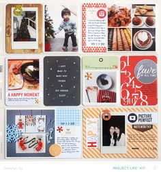 Project Life November *PL Kit Only* by qingmei at @Studio_Calico - Copper Mountain - grid design on 4x6