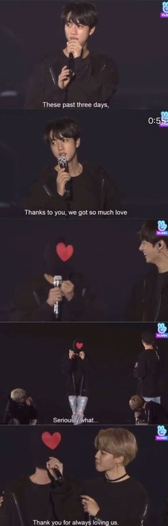 Jin's moment during BTS Wings Tour Final ❤️ He always goes all out for us :-)