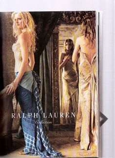 Vogue 2003 Ralph Lauren Ad - the dress in the mirror was what we modelled my wedding dress off, I still love it.