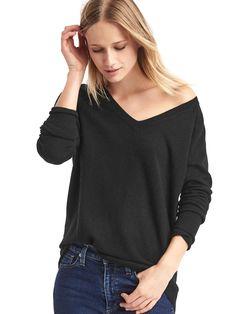 Soft V-neck Sweater via Gap