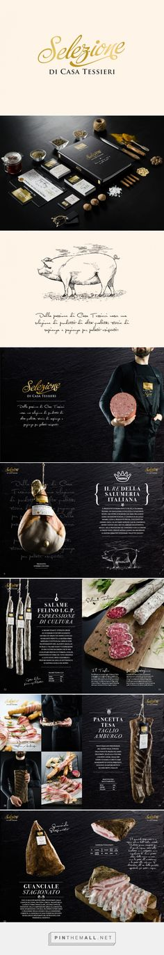 Products Brochure - Selezione Casa Tessieri - I Salumi on Behance - created via http://pinthemall.net