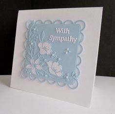F4A319 ~ Floral Sympathy by sistersandie - Cards and Paper Crafts at…