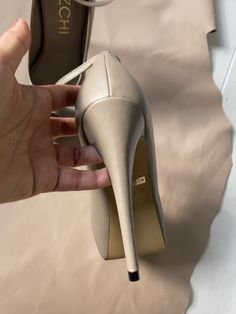 Overflowing with attitude, this High Heel beauty looks set to be a mega hit this season. Created by MIZCHI Pret Ankle Strap Heels, Ankle Straps, Wedding Guest Heels, Petite Fashion, Womens Fashion, Beige Heels, Super High Heels, Killer Heels, Fashion Heels