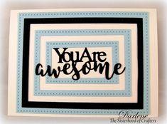 Dar's Crafty Creations: Frame It!