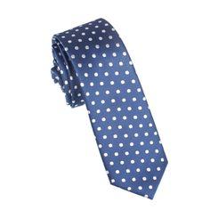 Royal Navy Blue Polka Dots Skinny Tie | Designer Thin Narrow Slim Neckties | Ties  Accessories Australia | www.otaa.com.au | OTAA