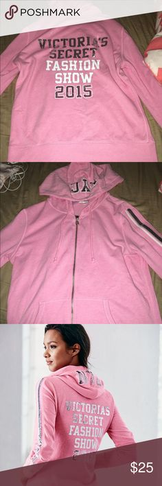 2015 Victoria's Secret Fashion Show Hoodie Pink EUC VSFS 2015 Hoodie Victoria's Secret Other