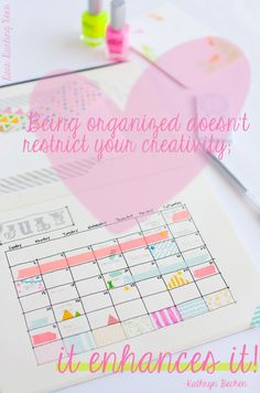 Be Organized! Cute planners and fun accessories ;)