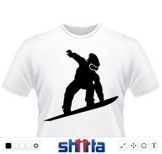 Snowboarder Silhouette Snowboarder mit Snowboard Brille,Wintermütze und Snowboards Snowboard Action