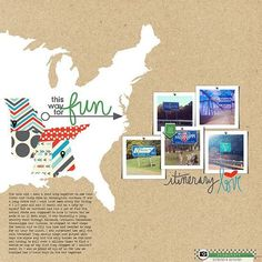 12 MORE Awesome Scrapbook Pages With Maps #vacationscrapbook