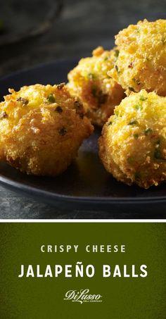 Crispy Cheese Jalapeno Balls with cheddar, mozzarella and Parmesan are a cheese lover's dream come true.
