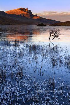 Old Man of Storr in December light. Trotternish. Isle of Skye. Scotland. by Barbara Jones, via 500px