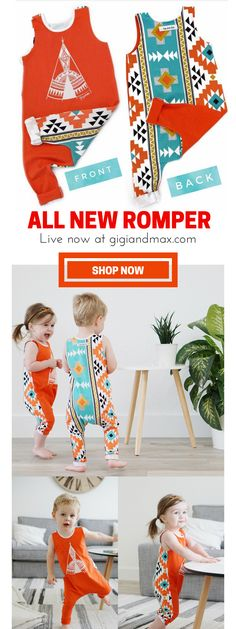 This new romper just went live! Shop now at www.gigiandmax.com!