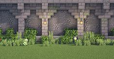 Minecraft Castle Walls, Minecraft Mansion, Minecraft Cottage, Cute Minecraft Houses, Minecraft Plans, Amazing Minecraft, Minecraft Blueprints, Minecraft Crafts, Minecraft Wall Designs