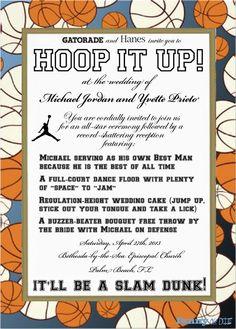 Michael Jordans Wedding Invitation