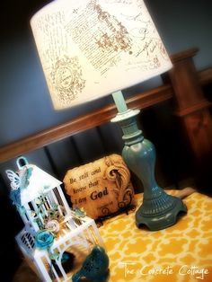 The Concrete Cottage: DIY French Script Lamp Shade