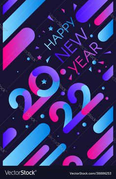 Happy New Year Images, New Year Greetings, Gradient Color, New Years Eve, Color Themes, Adobe Illustrator, Vector Free, Holiday, Christmas
