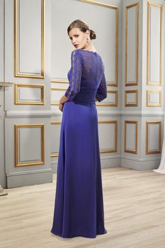 $143.89-Illlusion Neck Long Mother Of The Bride Dress. www.ucenterdress..... Tailor Made mother of the groom dress/ mother of the brides dress at #UcenterDress. We offer a amazing collection of 800+ Mother of the Groom dresses so you can look your best on your daughter's or son's special day. Low Prices, Free Shipping. #motherdress