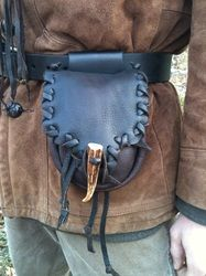 Mountain Man Belt Pouch by Deepwoods Leather