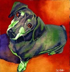Sampson: Signed Print from original watercolor dog painting.