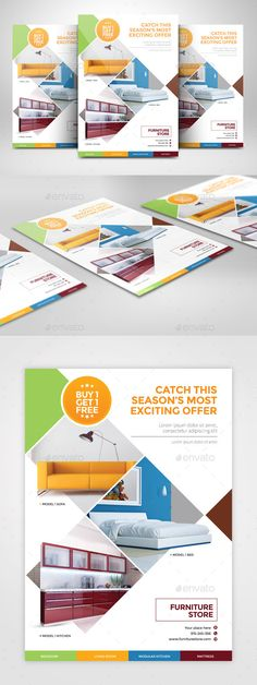 Furniture Flyer A4. Print-templates Flyers. For better visibility ad, angle, art, bedroom, box style, business, clean, colorful, corporate, creative, furniture, mattress, modern, new, orange, poster, print, and professional.