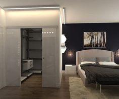 Trendy Ideas for master bedroom closet doors home Bedroom Closet Doors, Bedroom Closet Design, Home Room Design, Closet Designs, Bedroom Decor, Closet Mirror, Hallway Closet, Bedroom Apartment, Corner Wardrobe