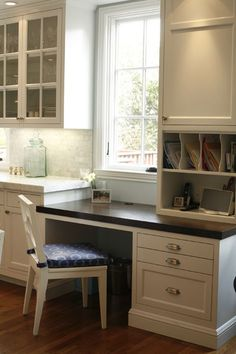 Gorgeous Kitchen with built in desk space. San Francisco, CA -