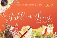 The Fall in Love Bundle By TheHungryJPEG