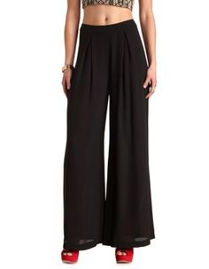 $26.99 @ Charlotte Russe chiffon pleated palazzo pants...other colors available!