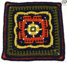 "Crochet this pretty 12"" afghan square to create a striking blanket, or as part of the Moogly CAL! Persephone's Garden at Night is a free pattern."