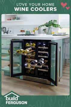 Do you favor red or white? Wine coolers keep your favorite vintage at the perfect temp to serve with dinner, or give an impromptu toast. Wine Coolers Drinks, Wine Chiller, Chef Kitchen, Kitchen Appliances, Concession Stands, Small Cooler, Sandy Springs, Wine Collection, Love Your Home