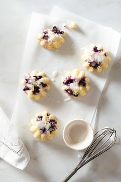 Blueberry Lemon Mini Muffins Stock Food Photo