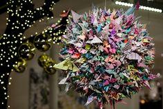 La boule origami - Galerie Imaginaire - Mon Petit Art Origami, Floral Wreath, Wreaths, Home Decor, Art, Christmas 2015, Art Background, Floral Crown, Decoration Home