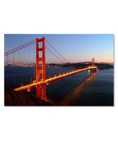 """'Golden Gate Bridge' Canvas Print by Pierre Leclerc, 16"""" x 24'"""