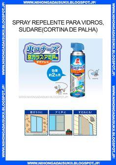 Spray repelente para vidros, sudare(cortina de palha)